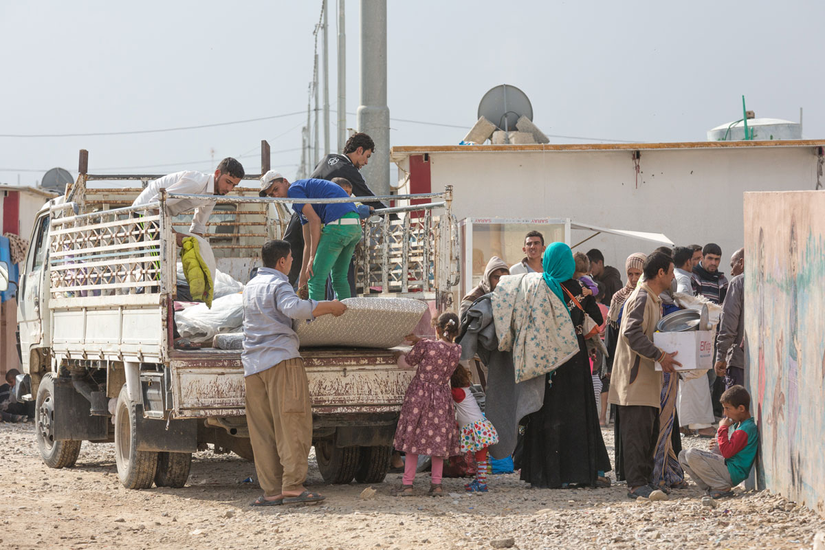 Debaga Camp was built 18 months ago to house 30,000 people fleeing conflict in northern Iraq. With a new influx of people fleeing Mosul in recent weeks, the camp has reached capacity.