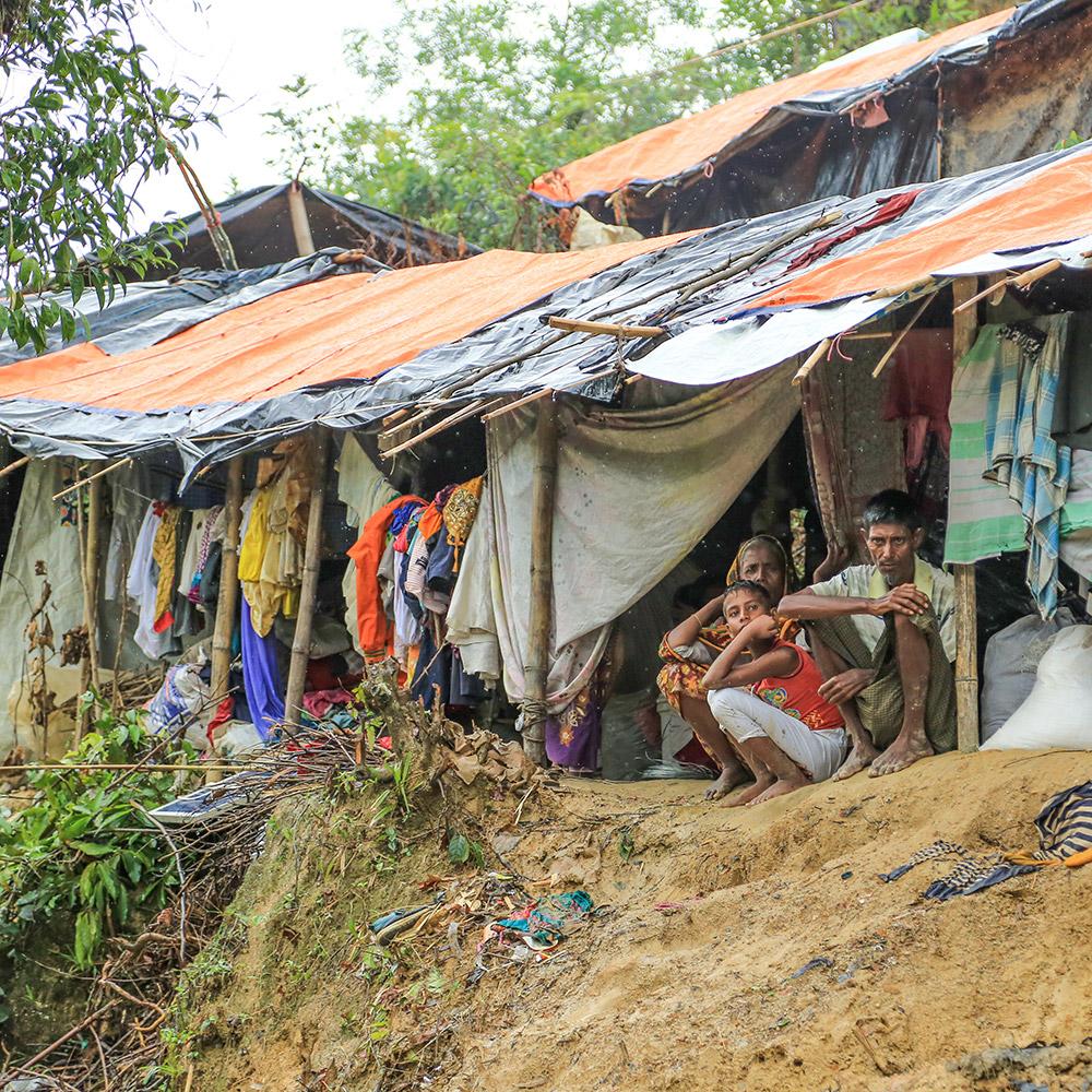 Rakhine State refugees living in Balukhali refugee camp in Bangladesh