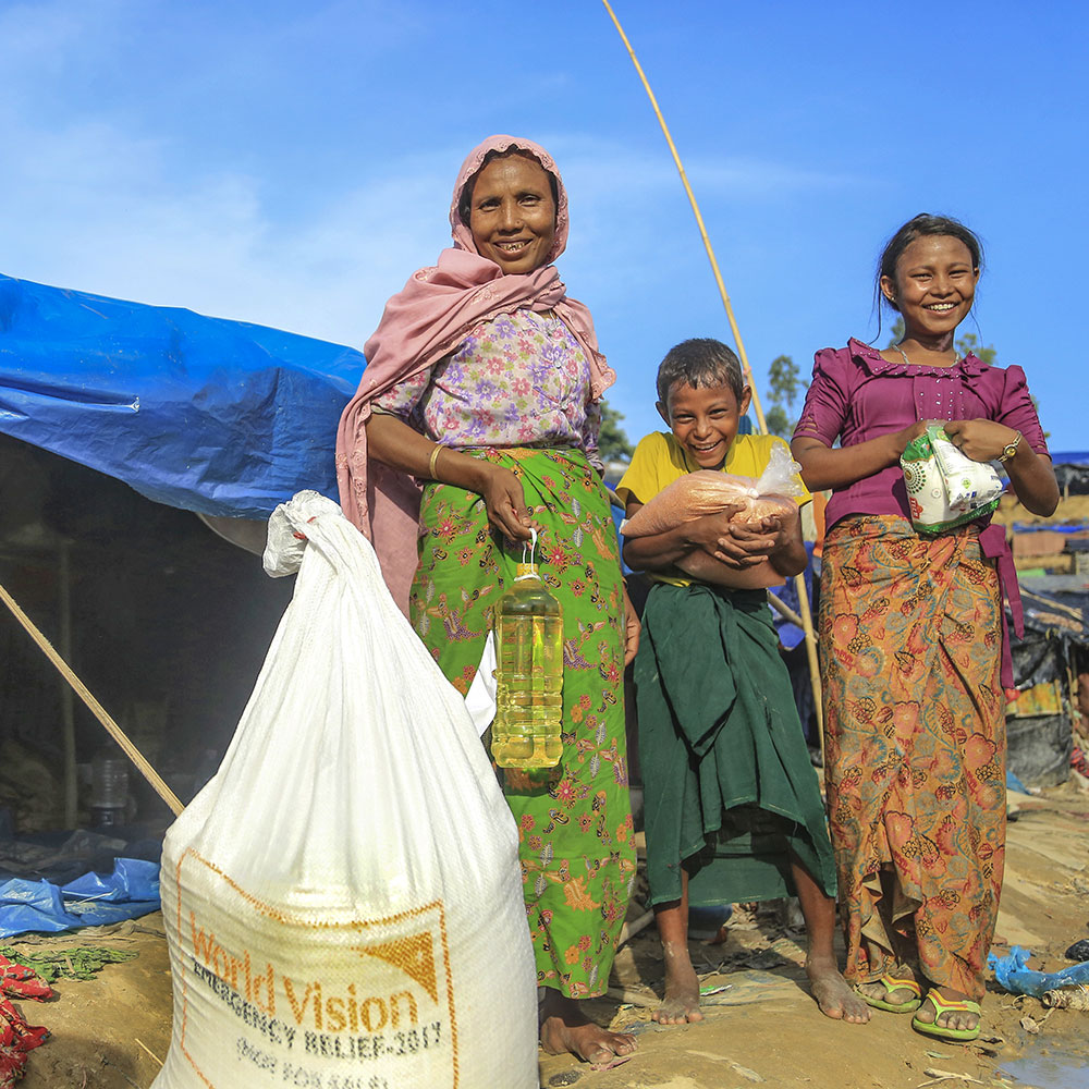 World Vision has provided over 3,000 households with food packages