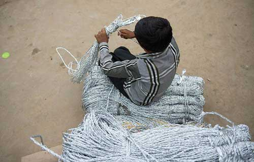 Child being exploited through child labour