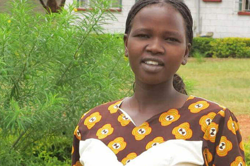 Christine from Kenya became a victim of child marriage at the young age of 11