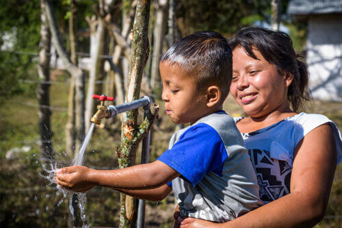water system in Honduras to alleviate water scarcity