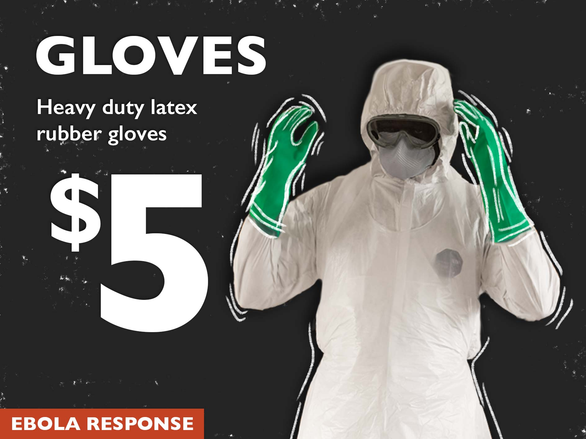 Rubber gloves Ebola World Vision Australia