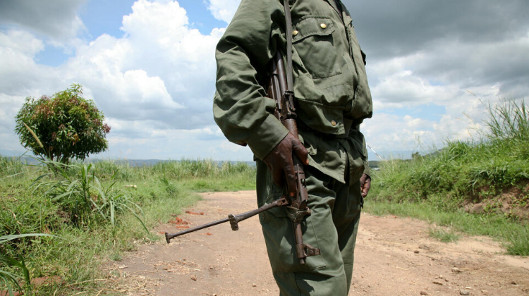 Soldier outside Beni, DR Congo (2009)