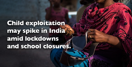 Child exploitation may spike in India amid lockdowns and school closures.