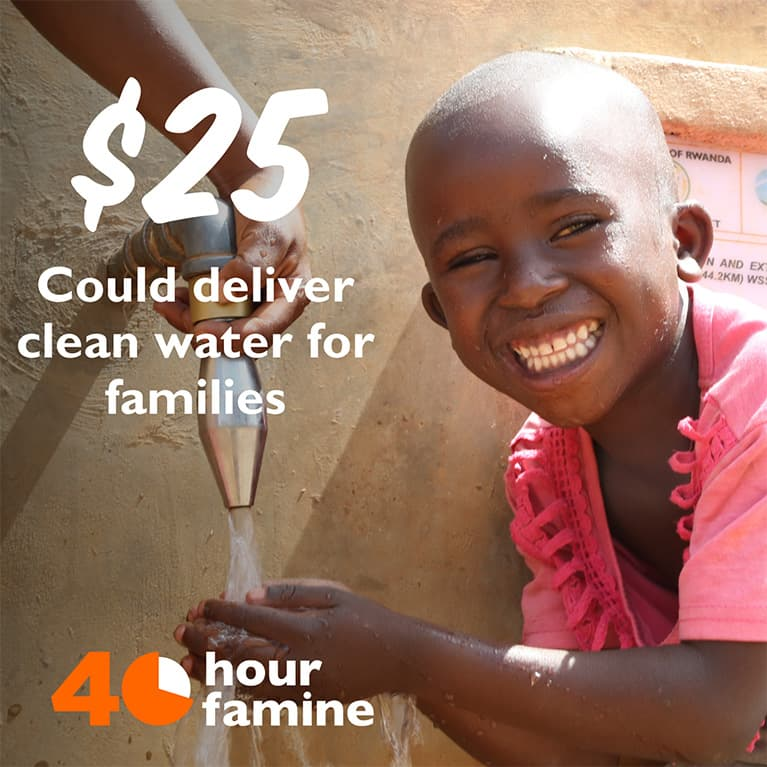 $25 could deliver clean water for families