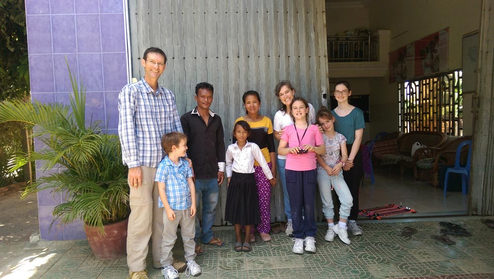The Plaistowe family during a child sponsorship visit