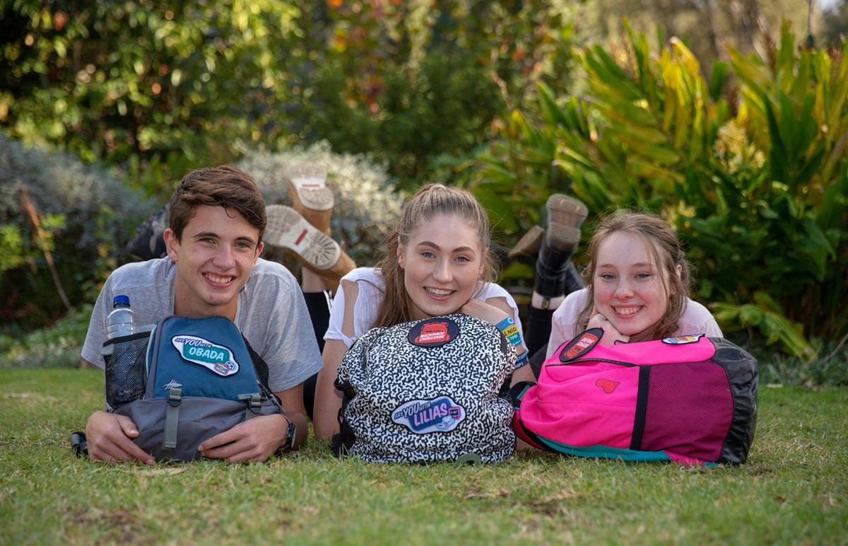 40 Hour Famine 2018 backpacks