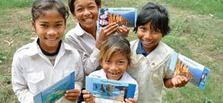 Children receive of letters from World Vision sponsors