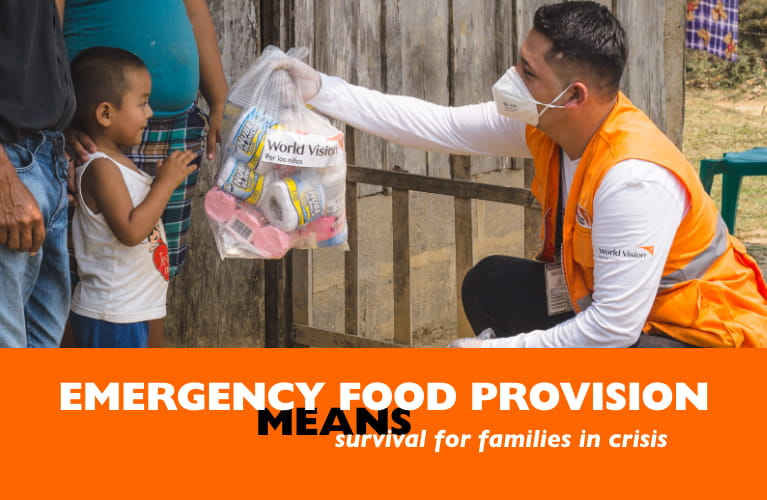 Emergency food provision MEANS survival for families in crises