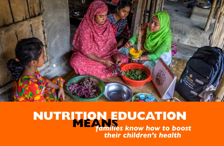 Nutrition education MEANS families know how to boost their children's health
