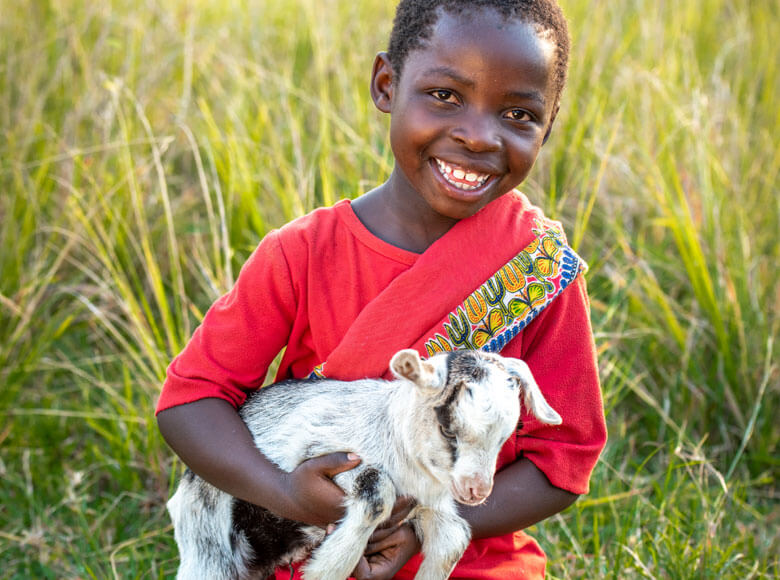 World Vision gift of a goat