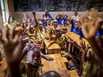 Learning is fun for these primary students in Rwanda.