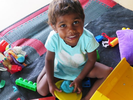 Playtime for children attending a World Vision-supported playgroup in Western Australia.