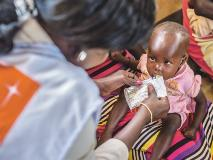 At this health clinic in war-torn South Sudan, malnourished children are treated with a nutritious, high-energy paste.