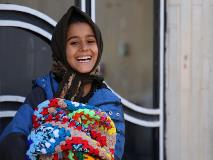 Children like Zohra, from Afghanistan, benefit from practical support such as blankets and toys.