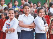 Girls from a World Vision-supported youth group in Cambodia take the lead by providing extra-curricular tuition to younger students.