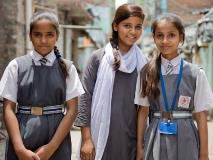 Aliya and her friends are among the 34,387 school children in India trained in school safety through World Vision's Comprehensive School Safety Framework.
