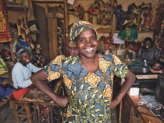 Help a woman start a business
