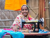 Sangeeta received a sewing machine and is now providing for her family in India.
