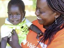 Immunisation helps give babies like Rhoda, from South Sudan, protection from life-threatening illnesses.