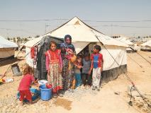 After fleeing their home in Mosul, Shaima and her children were grateful to receive this tent at a camp for displaced people in Iraq.