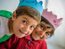 Syrian refugee children have fun at a World Vision-supported early learning centre in Lebanon.