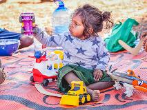 Children in the Pilbara have fun and develop new skills playing with recreational toys.