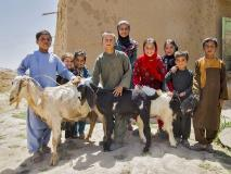 A female goat and her two kids will enable this family in Afghanistan to harvest milk and make other products to eat and sell.