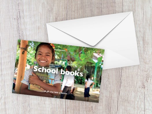 Khosy, from Cambodia, loves to read and borrows books from school to take home and enjoy after dinner.